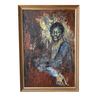 20th Century Original Portrait Painting by Mike S. For Sale
