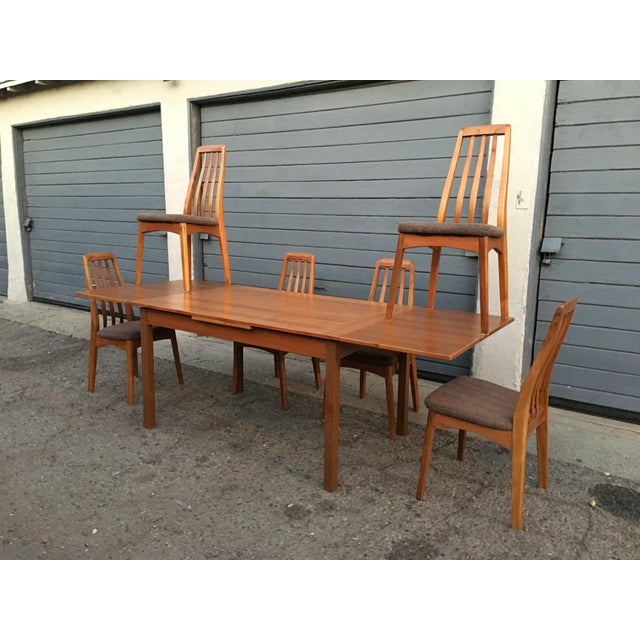Benny Linden Design Mid-Century Dining Table & 6 Chairs For Sale - Image 5 of 11