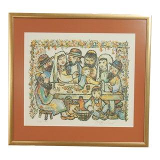 Jovan Obican Framed Lithograph Art Print For Sale