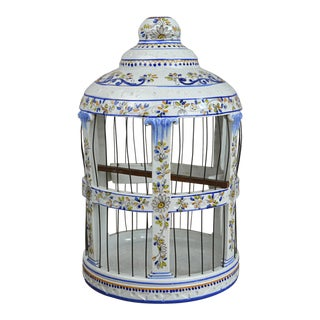 Early 20th Century French Faience Birdcage