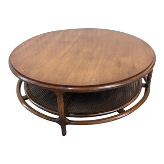 Mid Century Modern Sculptural Walnut Coffee Table For Sale