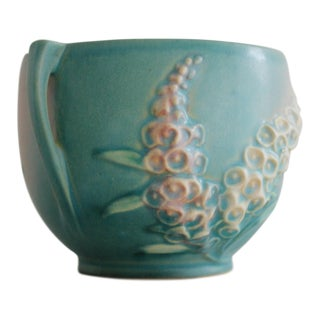 1940s Mid-Century Modern Roseville Foxglove Pottery Jardiniere