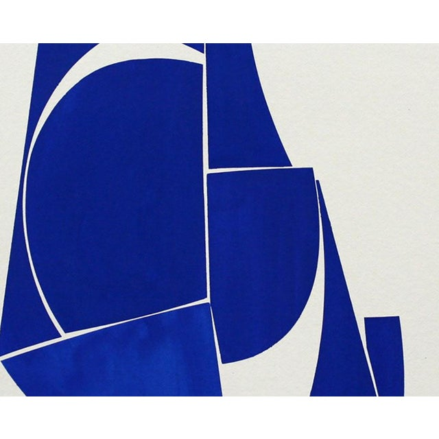 """Abstract Joanne Freeman """"Covers 24 Blue D Summer"""" Painting For Sale - Image 3 of 4"""