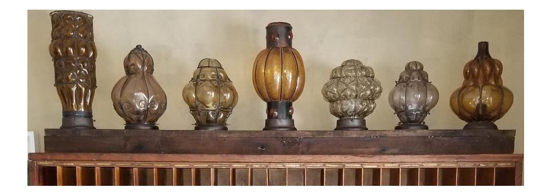 Wrought Iron U0026 Murano Blown Glass Lamps On Board