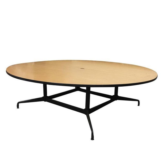 Charles And Ray Eames Round Foot Conference Table By Herman - Round conference table for 8