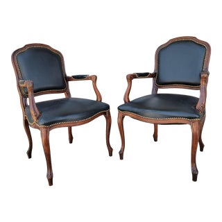 Vintage French Style Armchairs - a Pair For Sale