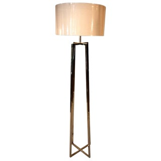 Transitional Nickel Floor Lamp For Sale
