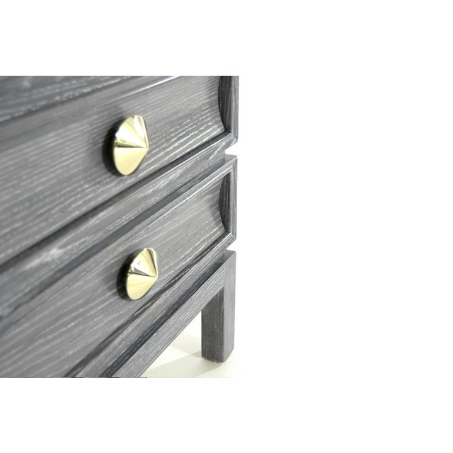 Stacked End Table in Limed Oak For Sale - Image 9 of 12