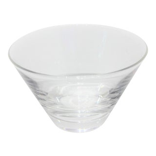 Mid-Century Modern Steuben Serving Bowl for Martini Olives Clear Glass Signed in Verso For Sale