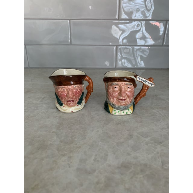 Staffordshire Potteries Antique Small Toby Character Jugs - Set of 3 For Sale - Image 4 of 7