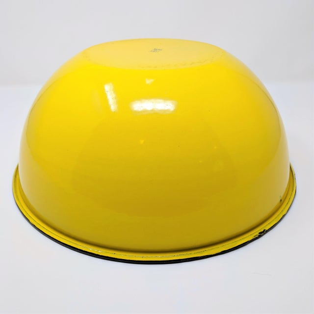 Vintage Otto Japanese Yellow Enameled Metal Bowl For Sale - Image 4 of 8