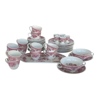 1960's German Villeroy & Boch Porcelain 'Fasan' Luncheon Set of 44 For Sale