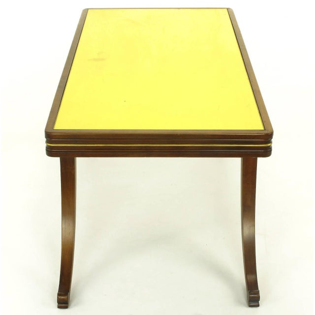 Early 1900s Parcel-Gilt and Walnut Empire Coffee Table with Gold Mirror Top For Sale In Chicago - Image 6 of 9