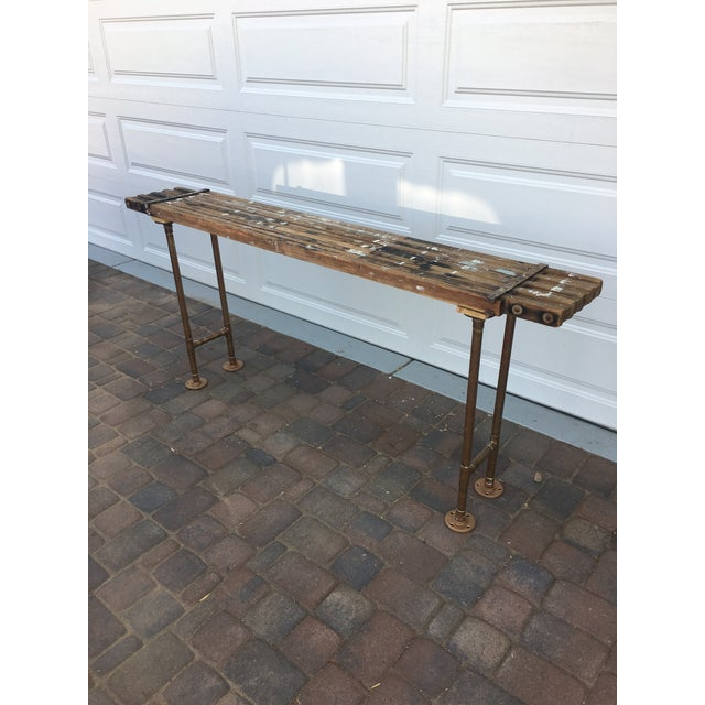 Antique Scaffolding Table For Sale - Image 4 of 11