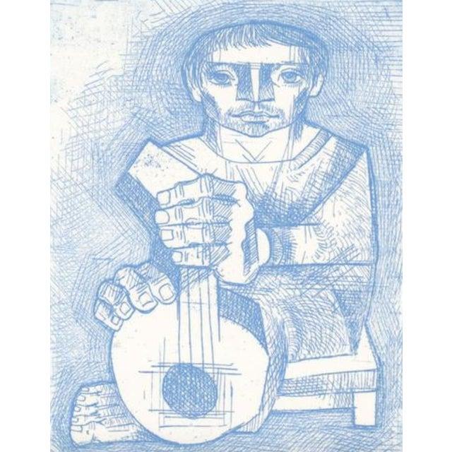Jorge Dumas (born Uruguay 1928-1985) Mandolinista Etching on paper, Artist's proof