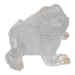 20th Century Art Deco Lalique Gregoire Toad Figurine For Sale