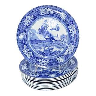 Antique Wedgwood Fallow Deer Dinner Plates - Set of 11 For Sale