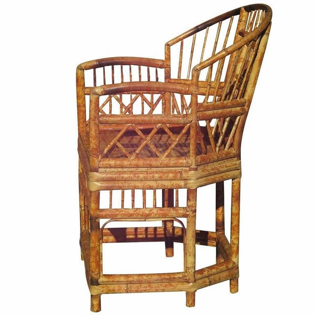 """Modern """"Brighton"""" Tiger Bamboo Armchair For Sale - Image 3 of 5"""