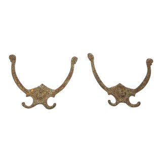 Wrought Iron Figural Hall Tree Hook For Sale