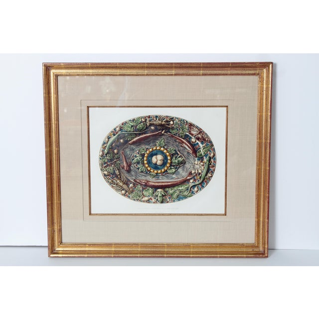 Set of Six (6) Hand-Colored Palissy Ware Lithographs by Rose-Joseph Lemercier For Sale - Image 9 of 10
