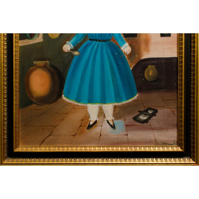 1950 'Girl in Kitchen' Painting by Lilia Carrillo For Sale - Image 5 of 8
