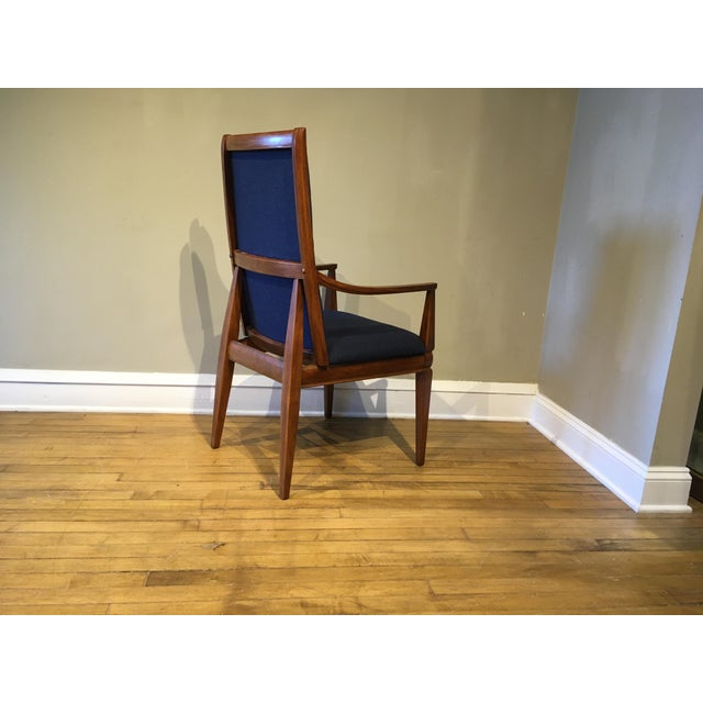 Chestnut Mid-Century Walnut Kroehler Dining Chairs - Set of 6 For Sale - Image 8 of 10