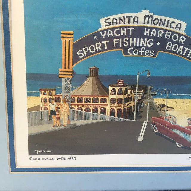 Santa Monica Pier Lithograph by Stan Cline For Sale - Image 4 of 4