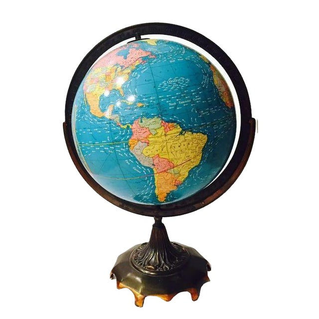 Vintage Cram's Double Axis World Globe - Image 1 of 6
