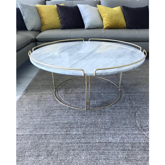 Stunning coffee table designed by Fabrice Berrux for Roche Bobois. Table has a mid-century modern inspired design....