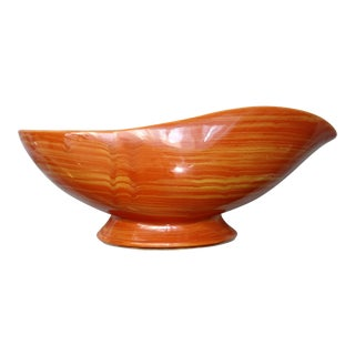 Vintage McCoy Mid Century Orange Planter For Sale