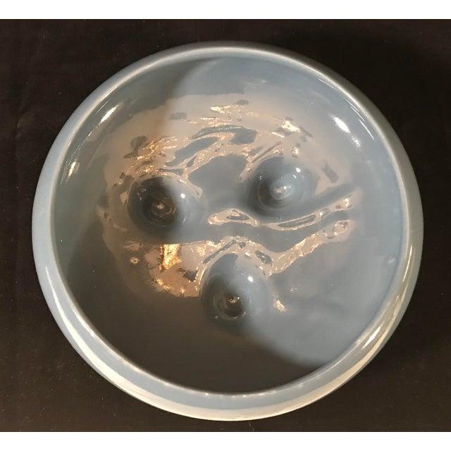 Mid-Century Ceramic Blue Grey Planter For Sale In Dallas - Image 6 of 7
