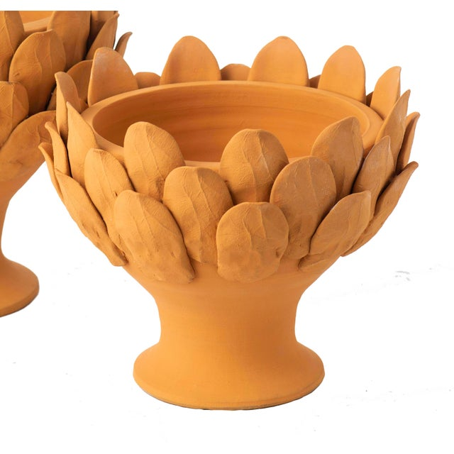 Terracotta Artichoke Footed Centerpiece, Small For Sale - Image 6 of 6