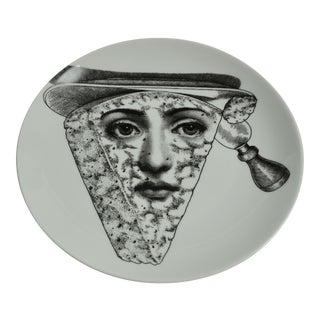 Piero Fornasetti Plate # 319 Made in Italy For Sale