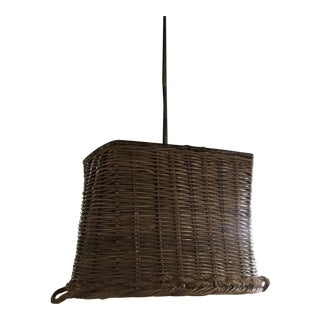 Basket Hanging Light Fixture For Sale