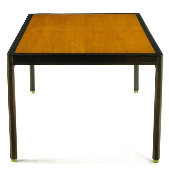 Harvey Probber Harvey Probber Walnut & Mahogany Parsons Dining Table For Sale - Image 4 of 8