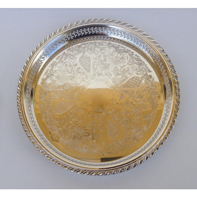 Silverplate Pierced Large Celtic Server Tray or Platter For Sale - Image 10 of 10
