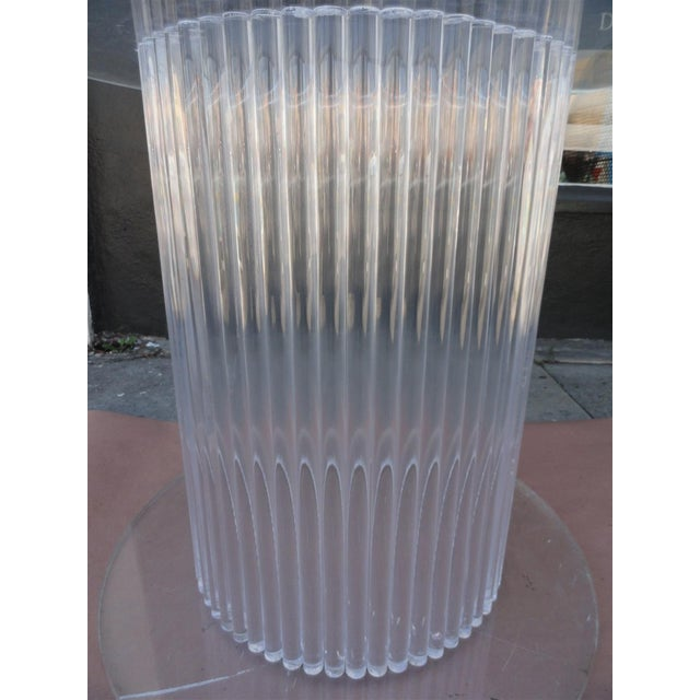 Column Style Lucite Center Table by Ritts Furniture Company For Sale - Image 9 of 11