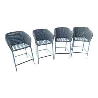 Janus Et Cie Counter Outdoor Stools - Set of 4 For Sale