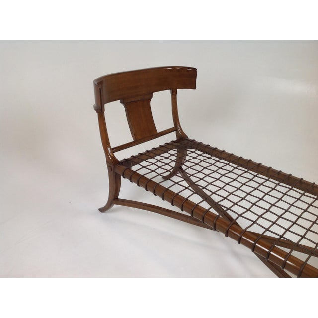 Mid Century Modern Style Klismos Chaise Lounge For Sale - Image 4 of 5