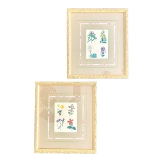 19th Century English Botanical Engravings - a Pair For Sale