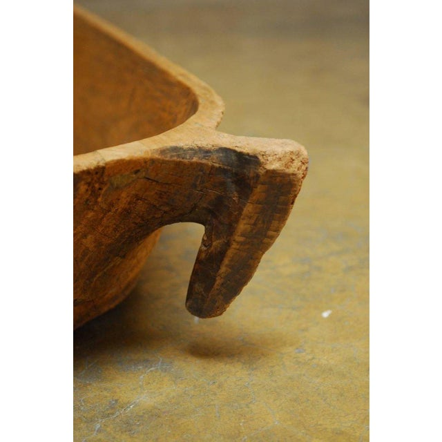 Wood 18th Century Large French Carved Wood Dough Bowl or Trough For Sale - Image 7 of 8