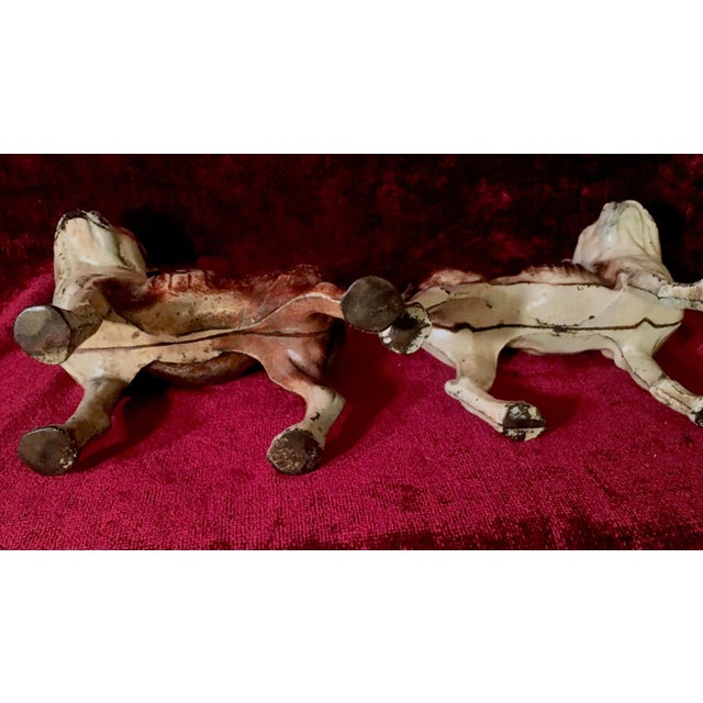 1920s 1930s Hubley Boston Terrier Dog Cast Iron Doorstops - a Pair For Sale - Image 5 of 13