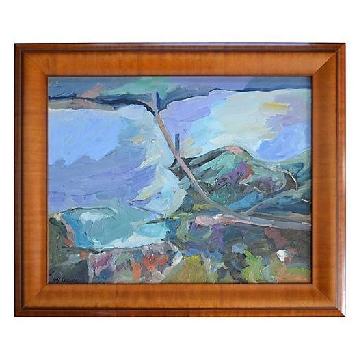 Abstract Landscape Painting California - The Bay - Image 1 of 2