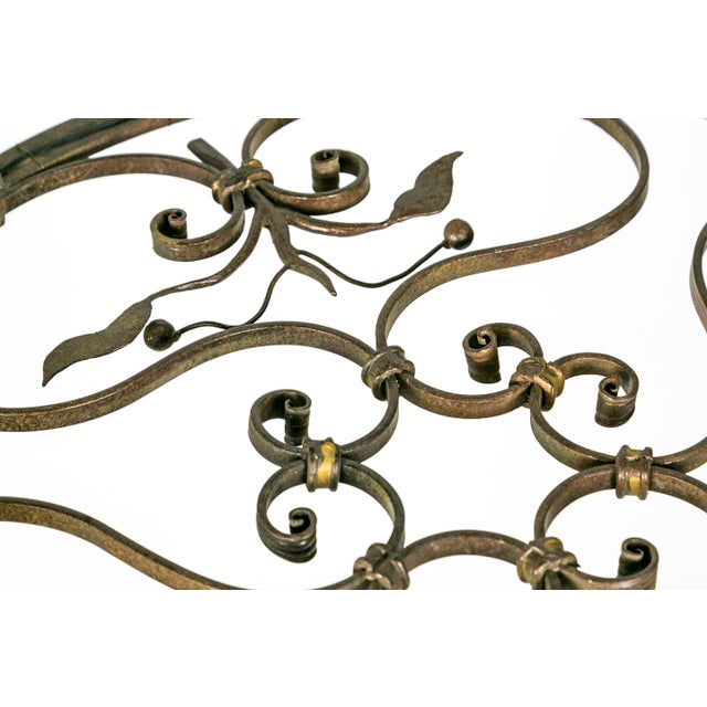Hand Wrought Flat Leaf and Scroll Chandelier - Image 3 of 9