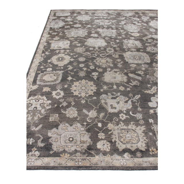 Chester Hand knotted Bamboo/Silk Midnight Rug-8'x10' For Sale - Image 4 of 8