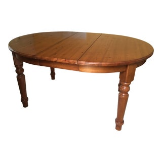 Pottery Barn Ashford Country Pine Dining Table For Sale