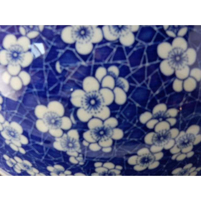 Chinese Lg Centerpiece Plum Blossom Bowl - Image 7 of 8