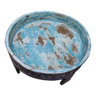 Indian Wooden Antique Grinder Table For Sale