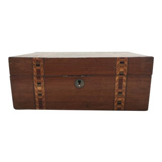 Walnut Tunbridge Ware Box
