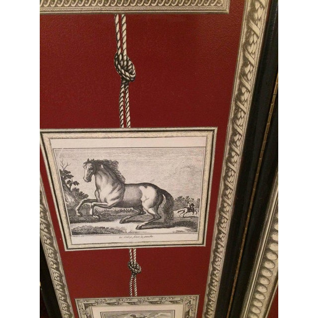 Graphic Fornasetti Style 3 Panel Screen For Sale - Image 4 of 7